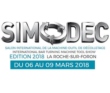 Logo du Salon International de la Machine-Outil de Décolletage 2018